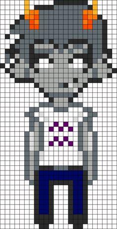 Cronus Ampora Homestuck Openbound Sprite Perler Bead Pattern / Bead Sprite