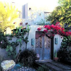 Gorgeous garden gate from the southwest.