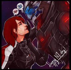 Reunion by CrazySuperior on DeviantArt Mass Effect Garrus, Mass Effect 1, Mass Effect Universe, Mass Effect Romance, Star Force, Commander Shepard, Nerd Love, Geek Girls, Dragon Age