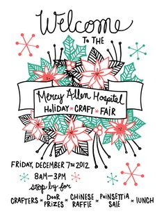 the lovely forest: Holiday Craft Fair Poster