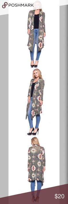 🍂🍁 JUST IN 🍂🍁 ✨Olive Tribal Cardigan ✨ ✨Olive Tribal Print Cardigan✨ 🍂🍁Fall Edition 🍂🍁 🔥HOT 💃🏼 SEXY 🌦☁️ COMFY AND WARM  Hacci Material  Ships 1-2 business day, I AM A FAST SHIPPER 🛫 YES, these are the real pictures of the item 💁🏻 Sizes available in REGULAR AND PLUS BRAND NEW merchandise only  MADE IN USA! 🇺🇸 Add it to bundle to save more 🤑 Sweaters Cardigans