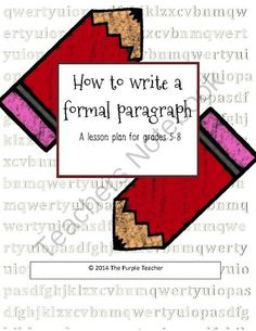 How to Write A Five-Paragraph Essay