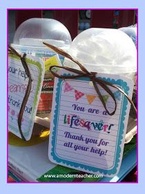A Modern Teacher: Tokens of Thanks: Caffeine and Parent Gift Tags