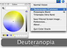 #Diseños accesibles para personas con #daltonismo con Color Oracle