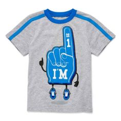 Okie Dokie® Boy Short Sleeve S15 Sports Graphic Tee - JCPenney