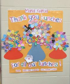 Made this for Staff Appreciation for a cafeteria staff member from Cameron's class. Made this for Staff Appreciation for a cafeteria staff member from Cameron's class. End Of School Year, School Staff, School Reunion, School Events, School Holidays, School Fun, Staff Appreciation Gifts, Volunteer Gifts, School Gifts