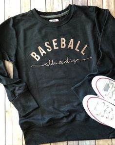 Baseball Sweatshirt Baseball Mom Shirt Baseball Mom Sweatshirt Baseball All Day Baseball Shirt Baseball Tank Baseball All Day Shirt Shirt Designs, My Style, Baseball Tank, Baseball Cleats, Baseball Games, Baseball Mom Shirts Ideas, Baseball Display, Baseball Socks, Baseball Stuff