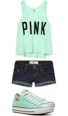 Converse and pink shirt matching