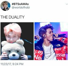 The duality of Namjoon