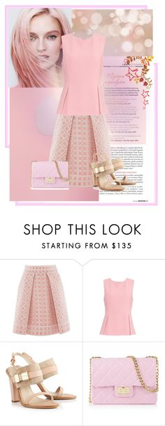 """""""So Pink"""" by girlygirl1471 ❤ liked on Polyvore featuring mode, Temperley London, Diane Von Furstenberg, See by Chloé, Design Inverso, monochrome, Color, Pink en skirt"""