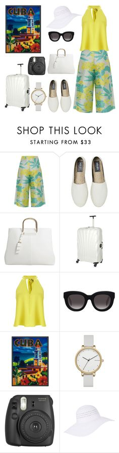 """""""Pack and Go: Cuba!"""" by nerdtastic81 ❤ liked on Polyvore featuring PatBo, Kenzo, MANGO, Samsonite, Miss Selfridge, Muse, Skagen, Fujifilm and Accessorize"""