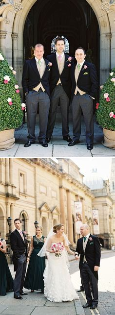 A Spring Themed Wedding At Swancar Farm Nottinghamshire Groomsmen In Slater Menswear