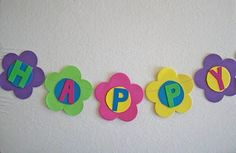 Flower Party Decor - simple and effective. I think the bright colours are the key Baby Girl Birthday, 2nd Birthday Parties, Flower Birthday, Colorful Birthday, Spring Crafts For Kids, Spring Activities, Dollar Stores, Party Planning, Party Time