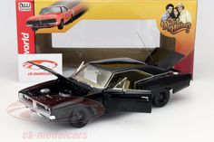 CK-Modelcars - AWSS110: Dodge Charger The Duke of Hazard 1969 schwarz 1:18 Autoworld, EAN 849398007334