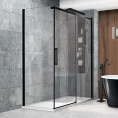 Shower Doors, Divider, Bathtub, Loft, Bathroom, Furniture, Home Decor, Modern Shower, Standing Bath