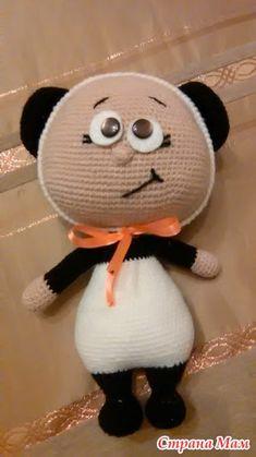 Для вдохновения - Вязание - Страна Мам Crochet Panda, Crochet Dolls, Knit Crochet, Crocheted Toys, Amigurumi Toys, Softies, Easy Crochet Patterns, Panda Bear, Baby Knitting