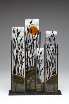 (inspiration for a multi fold card) Lauri Wilson - Ilwaco Glass   Reeds2013