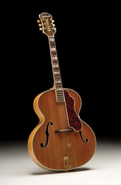This is one of the last Emperor guitars that Epiphone made with an ebony fretboard before switching to rosewood later. Item was passed Epiphone Acoustic Guitar, Custom Acoustic Guitars, Semi Acoustic Guitar, Archtop Guitar, Jazz Guitar, Music Guitar, Dj Music, Gibson Epiphone, Home Music
