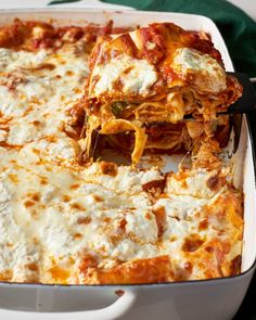 """This lazy lasagna is the perfect weeknight comfort food dinner. It is quick and easy unlike a typical """"special occasion"""" lasagna. Simply noodles, store bought pasta sauce, and cheese and then bake away. Such little effort for such a satisfying meal. Lazy Lasagna, No Boil Lasagna, Meat Lasagna, Pasta Recipes, Cooking Recipes, Healthy Recipes, Lasagna Recipes, Easy Lasagna Recipe No Cook Noodles, Simple Lasagna Recipe With Ricotta"""