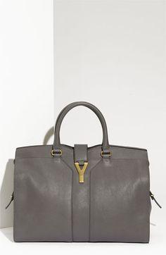 Yves Saint Laurent  Cabas Chyc - Large  Leather Satchel  960385b75842c