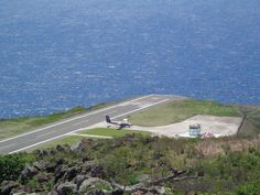 Winair at Junacho E. Yrausquin Airport on Saba, Dutch Caribbean  #Saba #Caribbean #airport #Winair