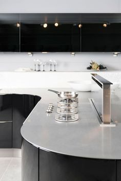 i-Cooking in 4mm Stainless Steel worktop by abk-innovent.com  Keuken - Tichino | Grando Keukens & Bad