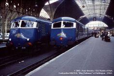 Blue Pullmans at Paddington Station London