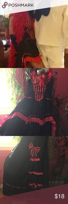 Burlesque Costume with Feather  Boa Worn once for a costume party.. Halloween is very close! Get in the fun, dress up!!! The gloves are not included. Other