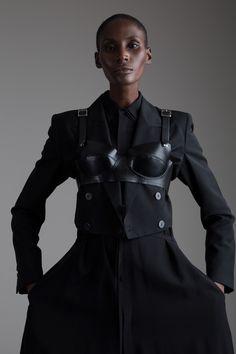 Comme des Garçons Leather Bra Designer Vintage Clothing Minimal Fashion