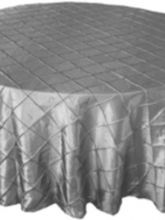 Silver Pintuck linens