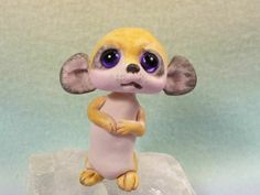 MEERKAT OOAK made by me fairy artist Lori Marple TROLL TRACKS troll elf dragon April 2014