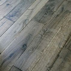 Manor Gray Custom Aged French Oak Floors / Coastal Living interview said this color wide plank oak flooring is best for sand and dog hair⚓ Castle Stones, Grey Hardwood Floors, Pine Floors, Grey Floorboards, Grey Laminate Flooring, Refinishing Hardwood Floors, Parquet Flooring, Wood Laminate, Creation Deco