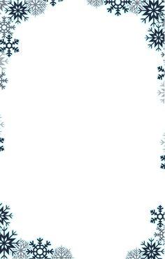 Snowflake border PNG and Clipart Christmas Boarders, Free Christmas Borders, Free Christmas Backgrounds, Christmas Frames, Noel Christmas, Winter Wallpaper, Christmas Wallpaper, Stationary Printable Free, Page Borders Free