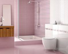 Fresh lilac slip resistant bathroom floor tile. Boutique tiles at cheap internet prices