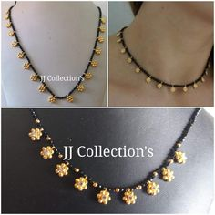 Pearl Necklace Designs, Jewelry Design Earrings, Beaded Jewelry Designs, Gold Earrings Designs, Bead Jewellery, Gold Designs, Latest Jewellery, Gold Chain Design, Gold Bangles Design
