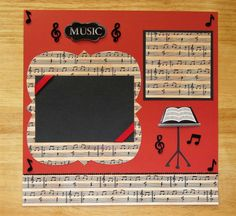 Music Scrapbook Page Music Scrapbook Layout 12 x 12