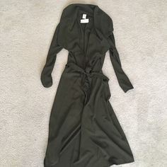 New Olive trench coat New with tag! Super fashionable and So So trendy! You will LOVE it Jackets & Coats Trench Coats