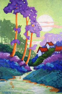 The Dream with the Amethyst Trees Moorcroft Musings Series by  Alida Akers