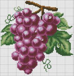 Ponto cruz: Frutas Gráficos Ponto Cruz.