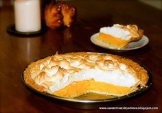 Orange Meringue Pie ~Sweet & Savory Orange Meringue Pie- Flaky buttery pie crust filled with sweet orange curd and topped with fluffy tall meringue. So irresistible! Pie Recipes, Baking Recipes, Dessert Recipes, Recipies, Orange Recipes, Citrus Recipes, Butter Pie, Cobbler, Sweet Tooth