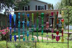 Make a glass bottle trellis
