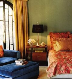 these are similar to the colors I'm thinking about for the house - persimmon dining room, green living room, yellow hall