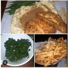 Chicken Francaise, Garlic Spinach, Truffle Parmesan Fries- Catelli Duo Voorhees, NJ