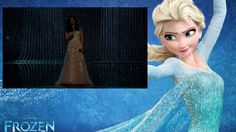 Idina Menzel at Oscars 2014 and Elsa at Frozen - Let It Go [Full song Ly...