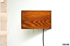 Reclaimed Wood Corner Wall Lamp. $50.00, via Etsy.