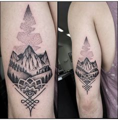 Geometric mountain tat