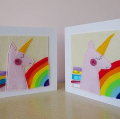 A personal favourite from my Etsy shop https://www.etsy.com/uk/listing/500820122/unicorn-card-rainbow-baby-card-good-luck