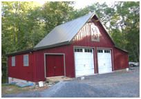 Country Pole-Frame Garage with Loft