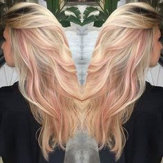 Today's hair inspiration! Summer blonde with pastel pink highlights! How pretty!! @atouchofcolormakeup.com Bookonline http://ift.tt/2mXtHCr #pinkhighlights #hollyhair #sheltonctsalon #ctsalon #colorexpertsfairfieldcounty #healthyhair #atouchofcolormakeupbysharynscully #summerhair @hollyatatouchofcolor http://ift.tt/1qkpLf1