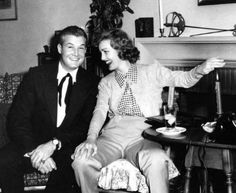 George 'Superman' Reeves & Virginia Grey laughing it up. Golden Age Of Hollywood, Classic Hollywood, Whitney Blake, Original Superman, George Reeves, Mole Man, Classical Hollywood Cinema, Thelma Todd, Adventures Of Superman